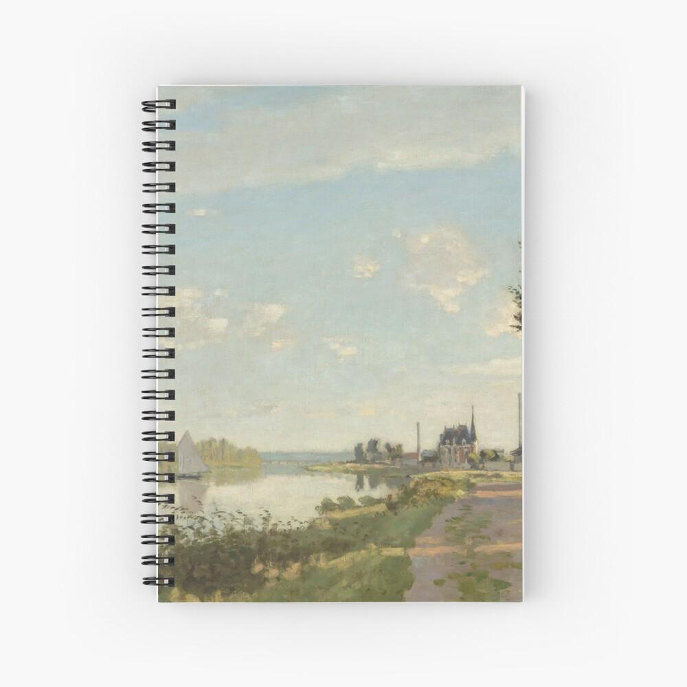 Argenteuil by Claude Monet Spiral Notebook