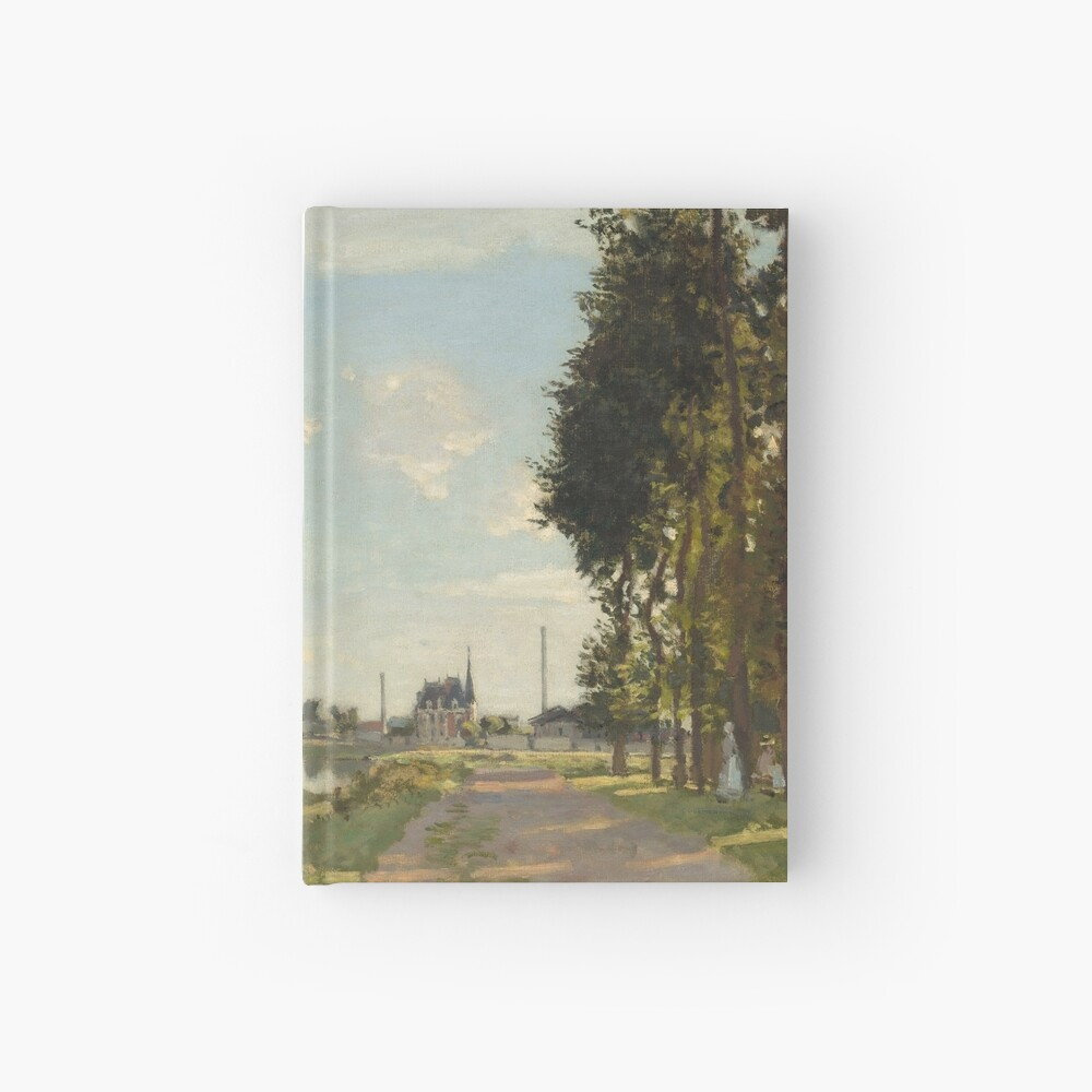Argenteuil by Claude Monet Hardcover Journal