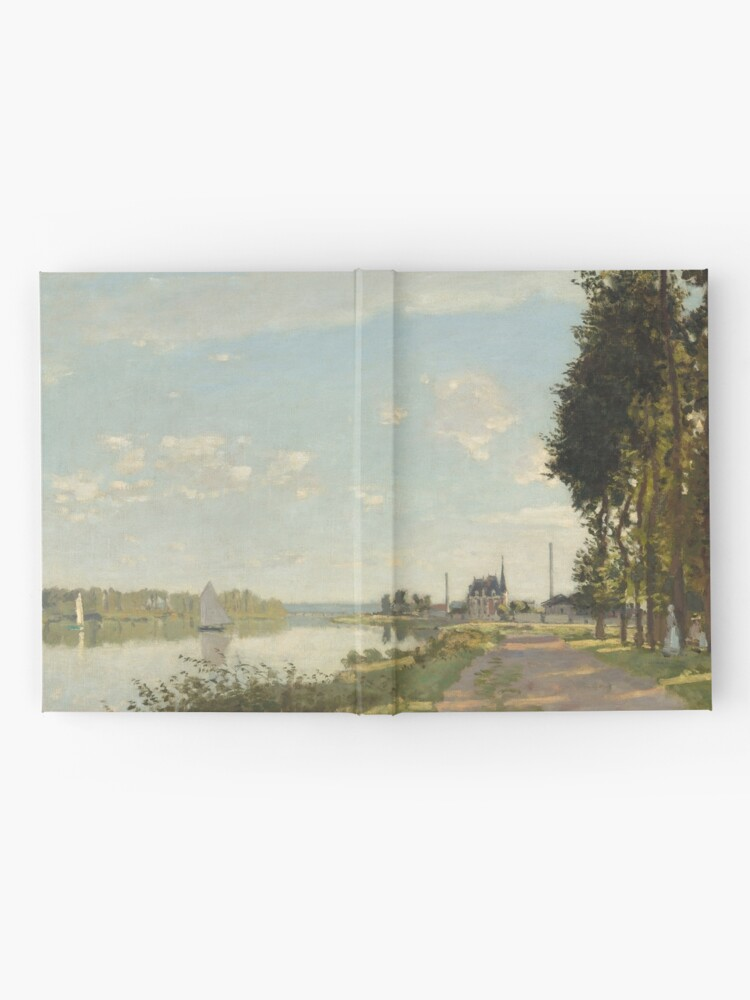Alternate view of Argenteuil by Claude Monet Hardcover Journal
