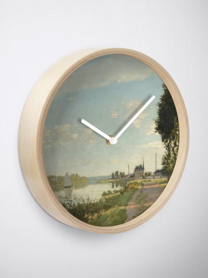 Alternate view of Argenteuil by Claude Monet Clock
