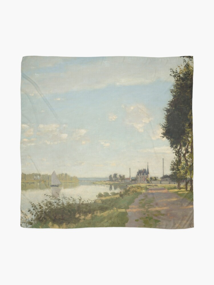 Alternate view of Argenteuil by Claude Monet Scarf