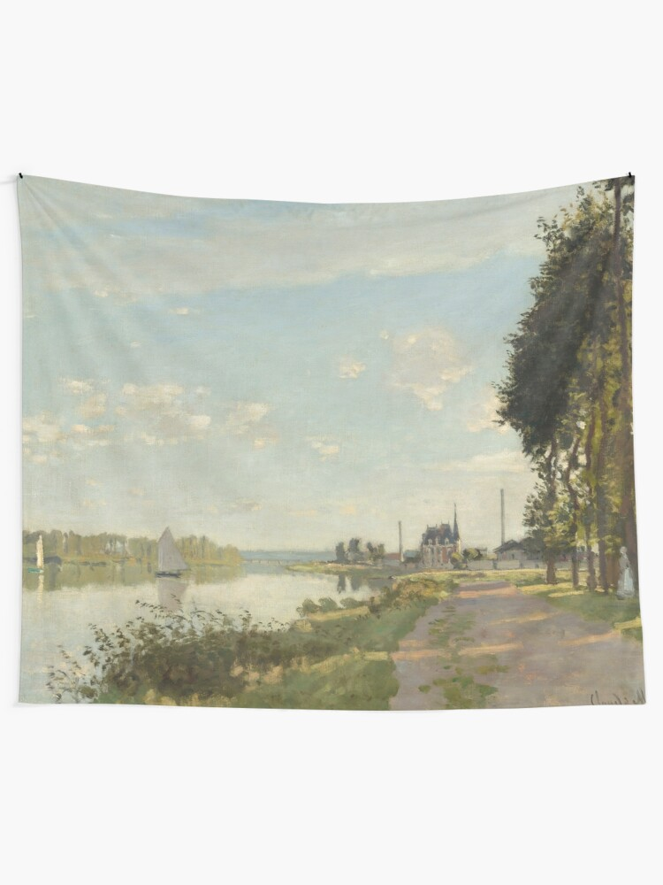 Alternate view of Argenteuil by Claude Monet Tapestry