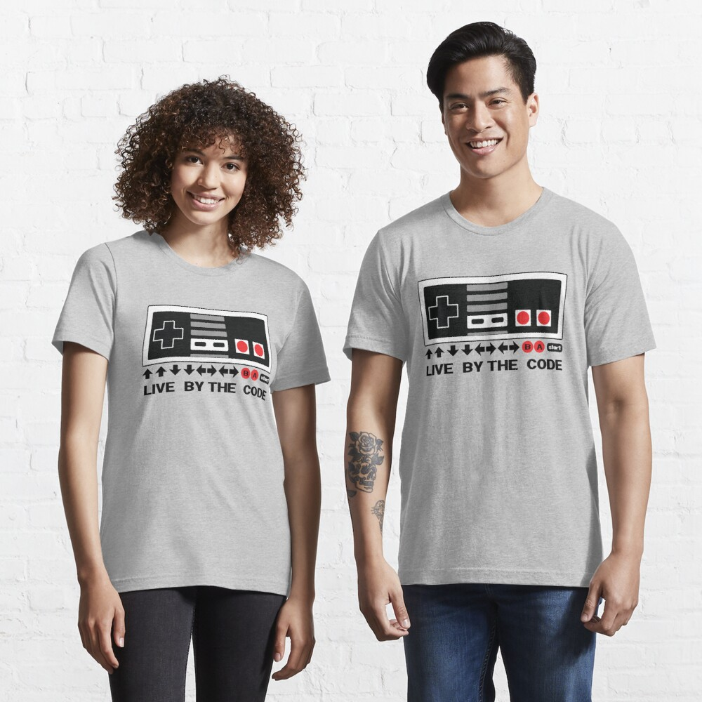 T-shirt essentiel «Nintendo Konami - Live par le code (NES)»
