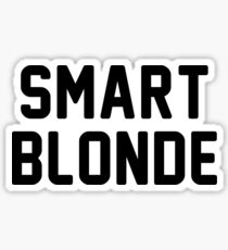 smart blonde Sticker