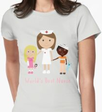 World's Best Nurse Womens Fitted T-Shirt