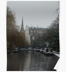 The canal in winter Poster