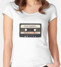 Old School Cassette Women's Fitted Scoop T-Shirt