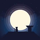 Cat in the Moonlight - Big by Mprintsonline