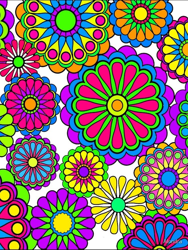 Happy Hippy Flowers by Alondra