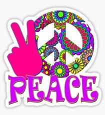 Happy Hippy Flowers Sticker