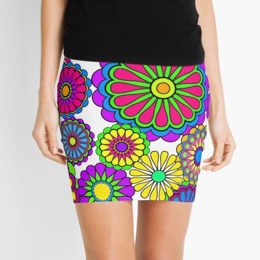 Happy Hippy Flowers Minifalda