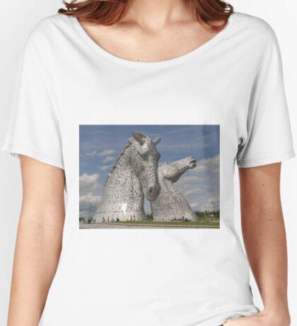 the Kelpies, Helix Park, Falkirk , Scotland Women's Relaxed Fit T-Shirt