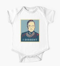 Notorious RBG I DISSENT Short Sleeve Baby One-Piece
