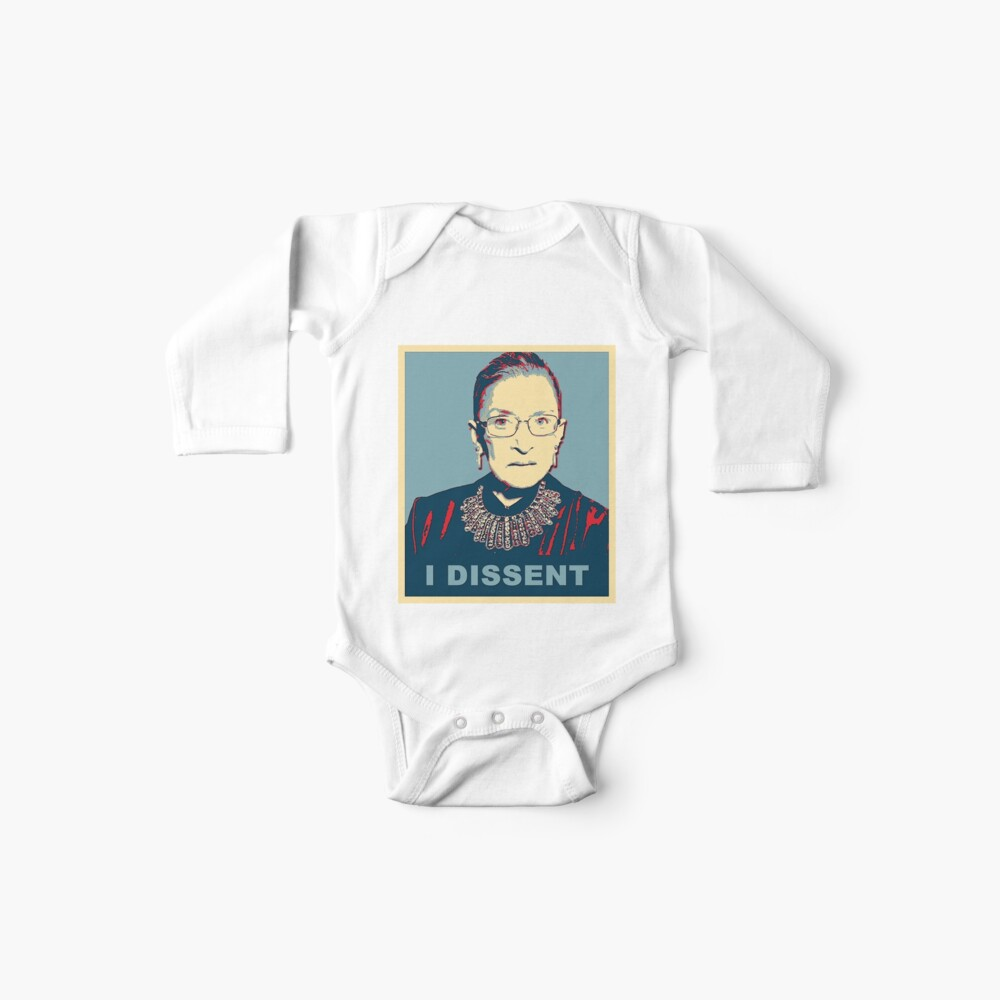Notorious RBG I DISSENT Baby One-Piece