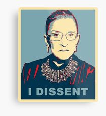 Notorious RBG I DISSENT Metal Print