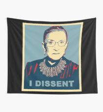 Notorious RBG I DISSENT Wall Tapestry