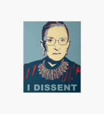 Notorious RBG I DISSENT Art Board