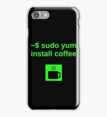 Linux sudo yum install coffee iPhone Case/Skin