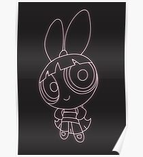 Blossom Neon Powerpuff girl collection Poster