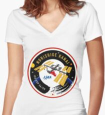 Norishige Kanai Expedition 54 - 55 Flight Patch Women's Fitted V-Neck T-Shirt