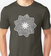 Black and white watercolor diamond pattern Unisex T-Shirt