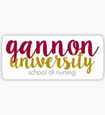 gannon nursing Sticker