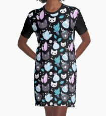Herb Witch // Black Graphic T-Shirt Dress