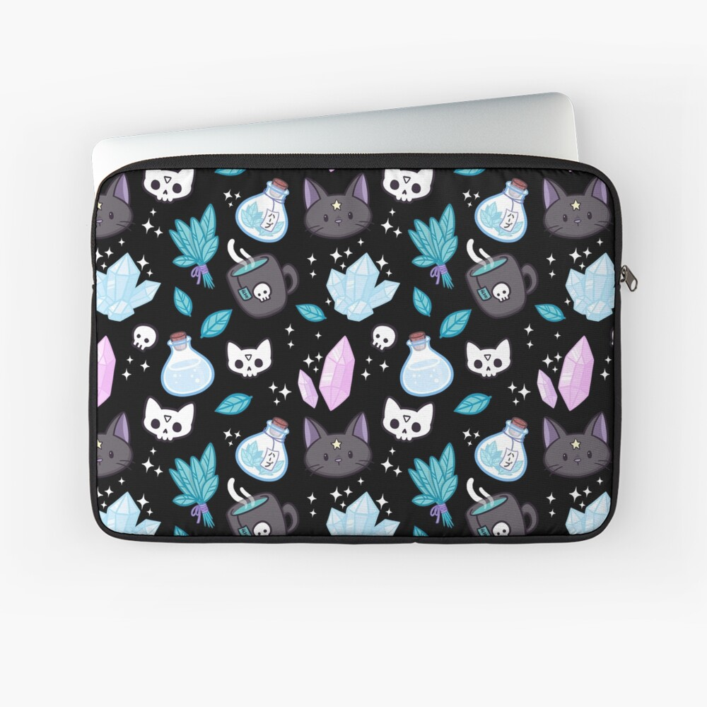 Herb Witch // Black Laptop Sleeve