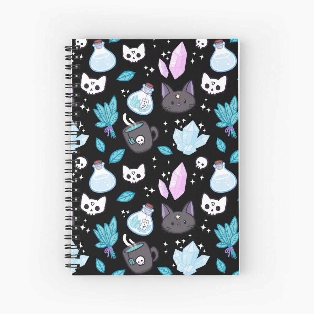 Herb Witch // Black Spiral Notebook