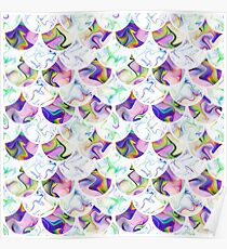 Scales in pastel colors Poster