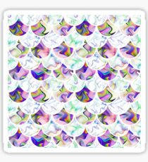 Scales in pastel colors Sticker