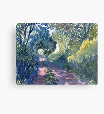 """Hockney's Tunnel of Trees"" Metal Print"