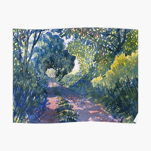 """Hockney's Tunnel of Trees"" Poster"