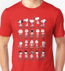 Peanuts through the ages Unisex T-Shirt