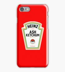 Pokemon Ketchup Ash Red iPhone Case/Skin