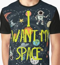 Privacy - I want my Space Graphic T-Shirt