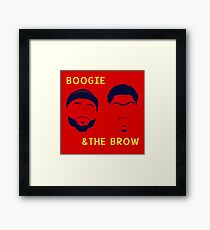 Boogie and The Brow Framed Print