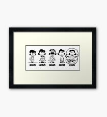 Lucy, Peanuts, through the ages  Framed Print