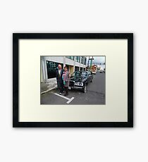 LIMO MERCEDES 300D W123 LONG WHEELBASE SEDAN COSTA RICA Framed Print