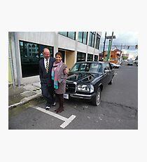 LIMO MERCEDES 300D W123 LONG WHEELBASE SEDAN COSTA RICA Photographic Print