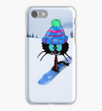 Snowboarding Cat iPhone Case/Skin