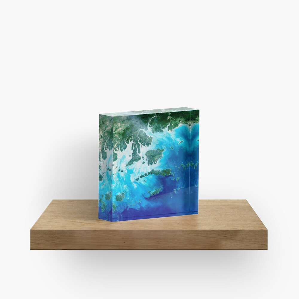 Island Map Acrylic Block