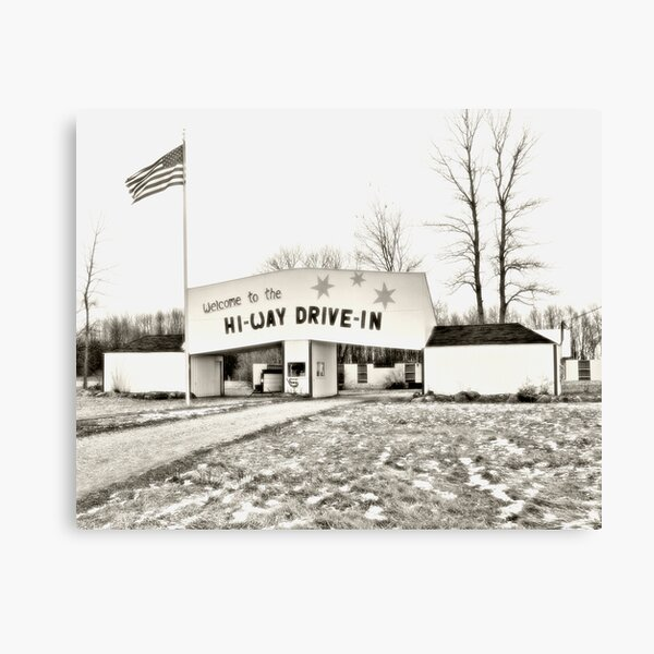 Drive-In Movies Canvas Print