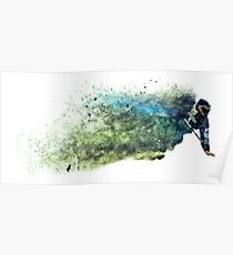 Sandstorm Paintball Player Poster