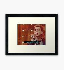 NDVH Top of the Pops Ceefax Subtitles - Depeche Mode Framed Print