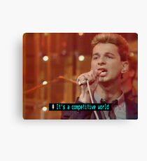 Top of the Pops Ceefax Subtitles - Depeche Mode Canvas Print