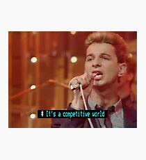 Top of the Pops Ceefax Subtitles - Depeche Mode Photographic Print