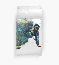 Sandsturm Paintball Spieler Bettbezug