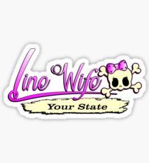 Linewife State Sticker