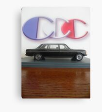 LIMO COSTA RICA W123 MERCEDES 300D LONG WHEELBASE SEDAN Canvas Print